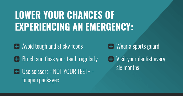 Lower your chances of experiencing an emergency with this list