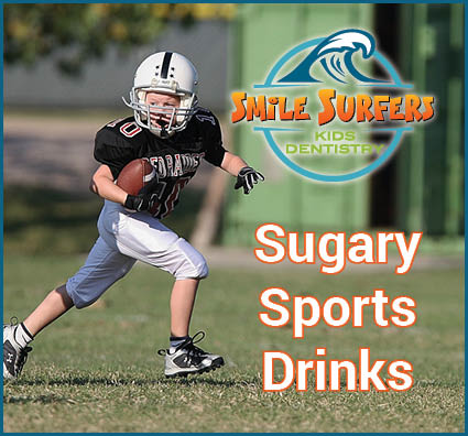 Sugary sports drinks and your kids teeth.